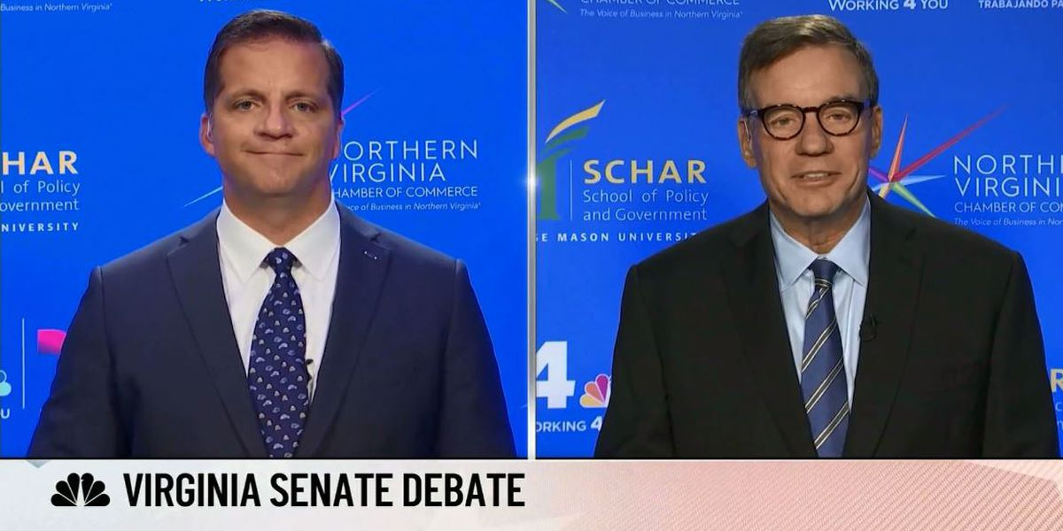 Virginia U.S. Senate debate between Warner and Gade gets heated at times