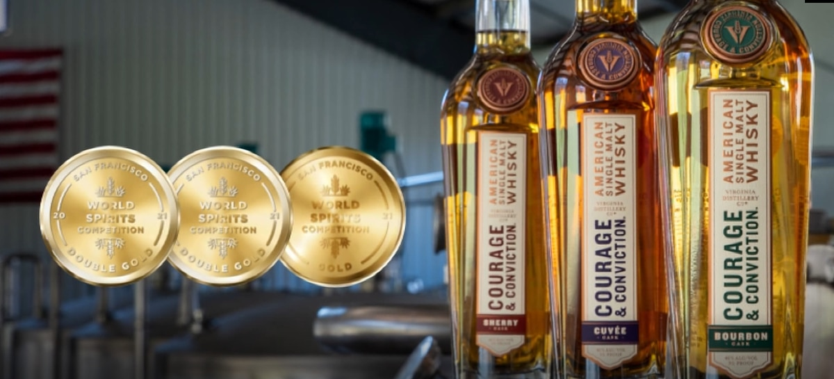 Virginia Distillery Co. takes home three gold medals in San Francisco World Spirits competition