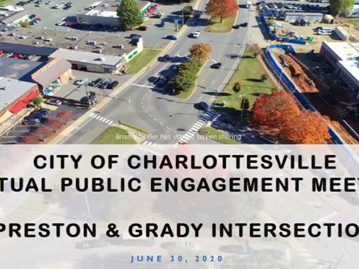 Planners, neighbors discuss future improvements to Charlottesville's Preston & Grady intersection