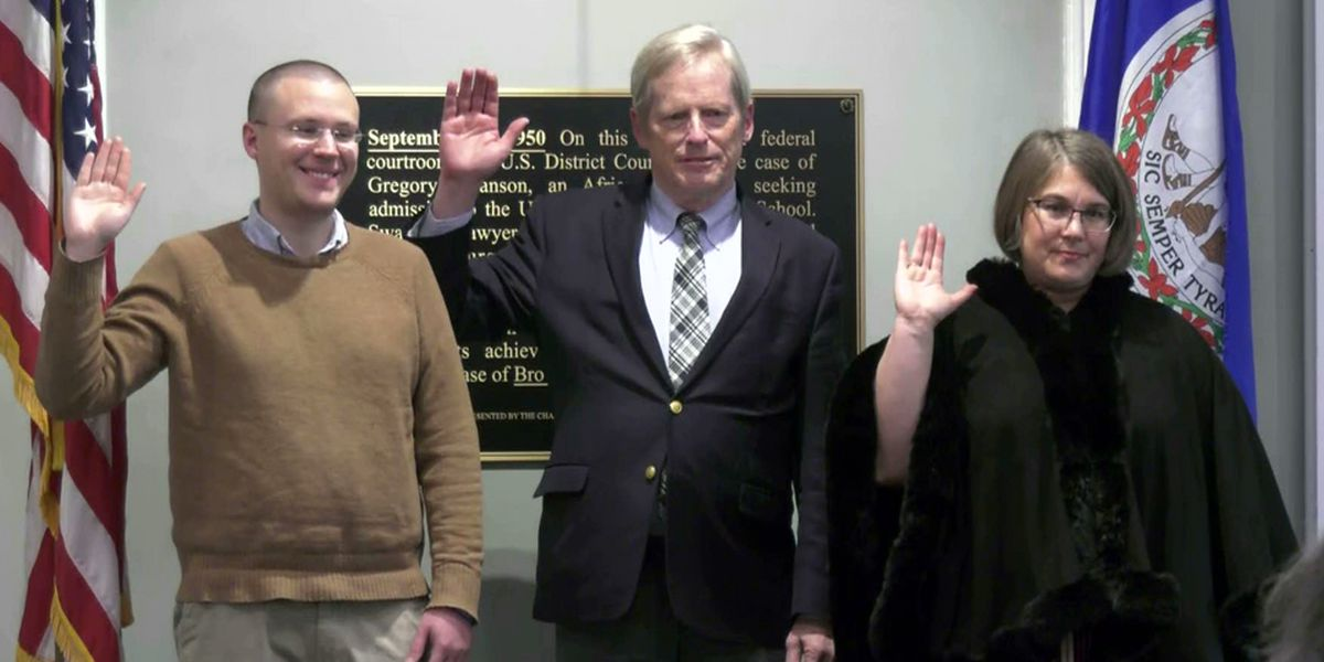 Three new Charlottesville city councilors sworn in to office
