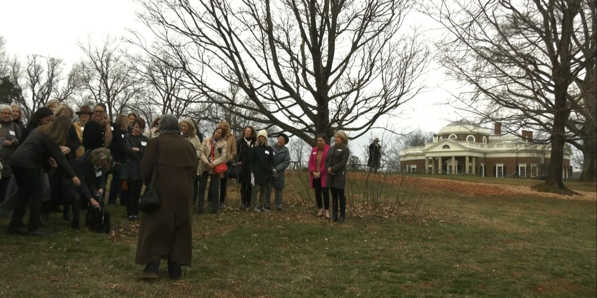 Monticello celebrates 100th year of Garden Club of Virginia with tree planting