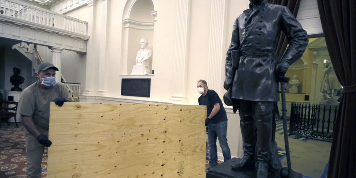 Virginia evicts Confederate monuments from its state Capitol