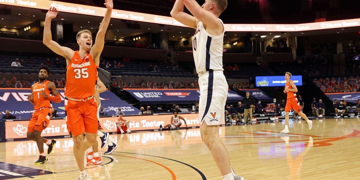 Hauser hits career-high seven 3-pointers; Cavaliers crush 'Cuse 81-58