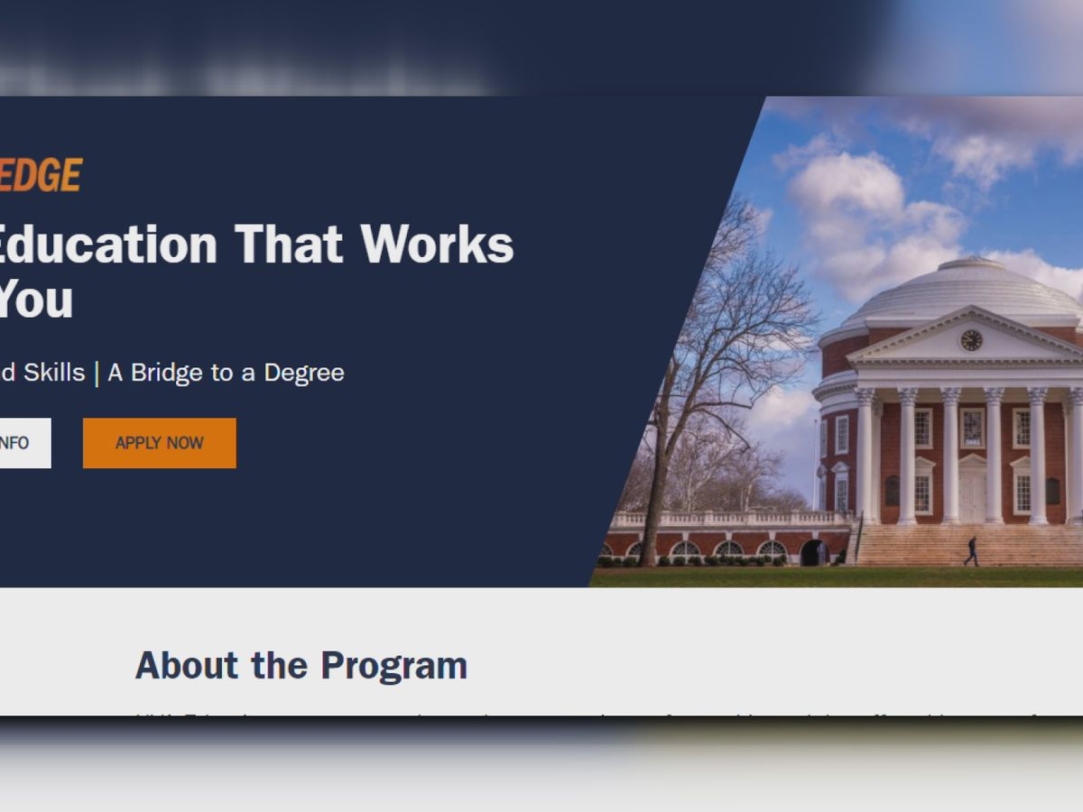 UVA Edge program opens applications for second class of adult learners