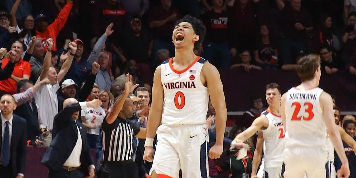 Cavaliers rally to beat Hokies 56-53 in Blacksburg