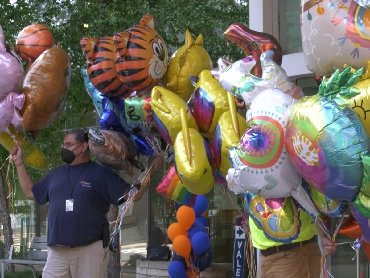 Balloons being donated to patients at UVA Children's Hospital