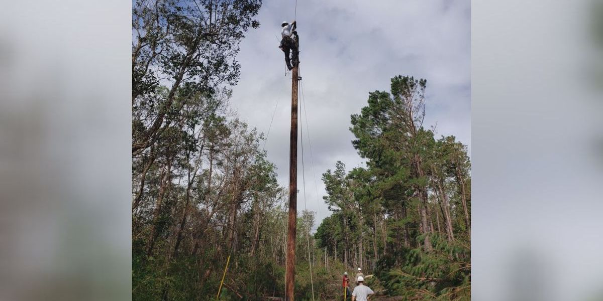 Valley linemen help restore power to thousands down south after Hurricane Sally