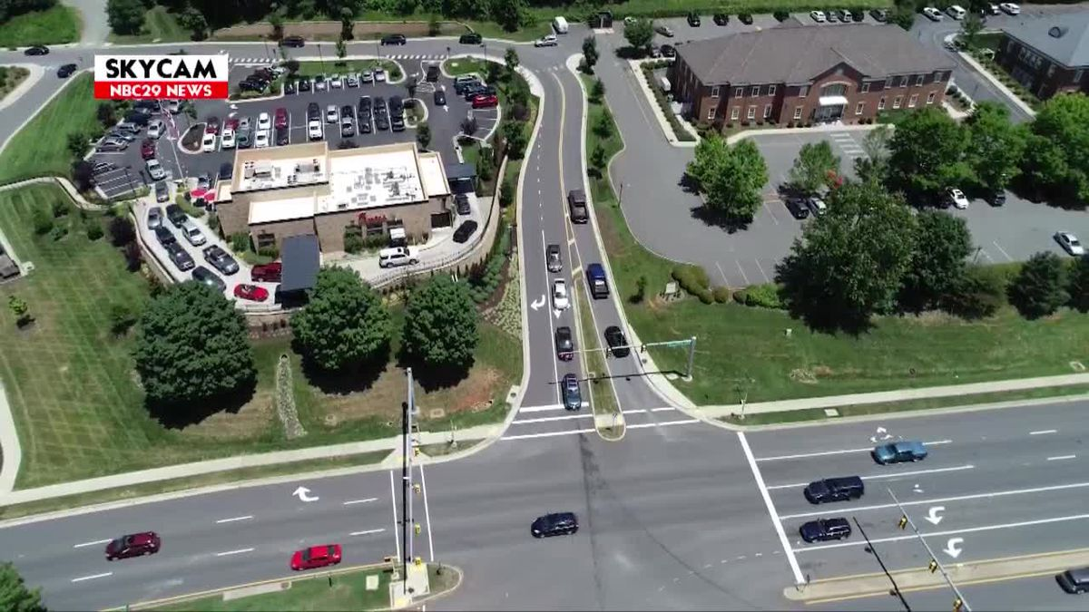 NBC29 Skycam: Route 250 at Luxor Road intersection July 1, 2019