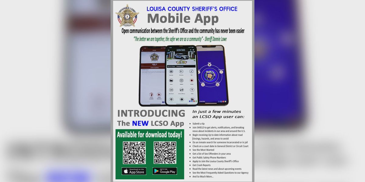 Louisa County Sheriff's Office launches new mobile app
