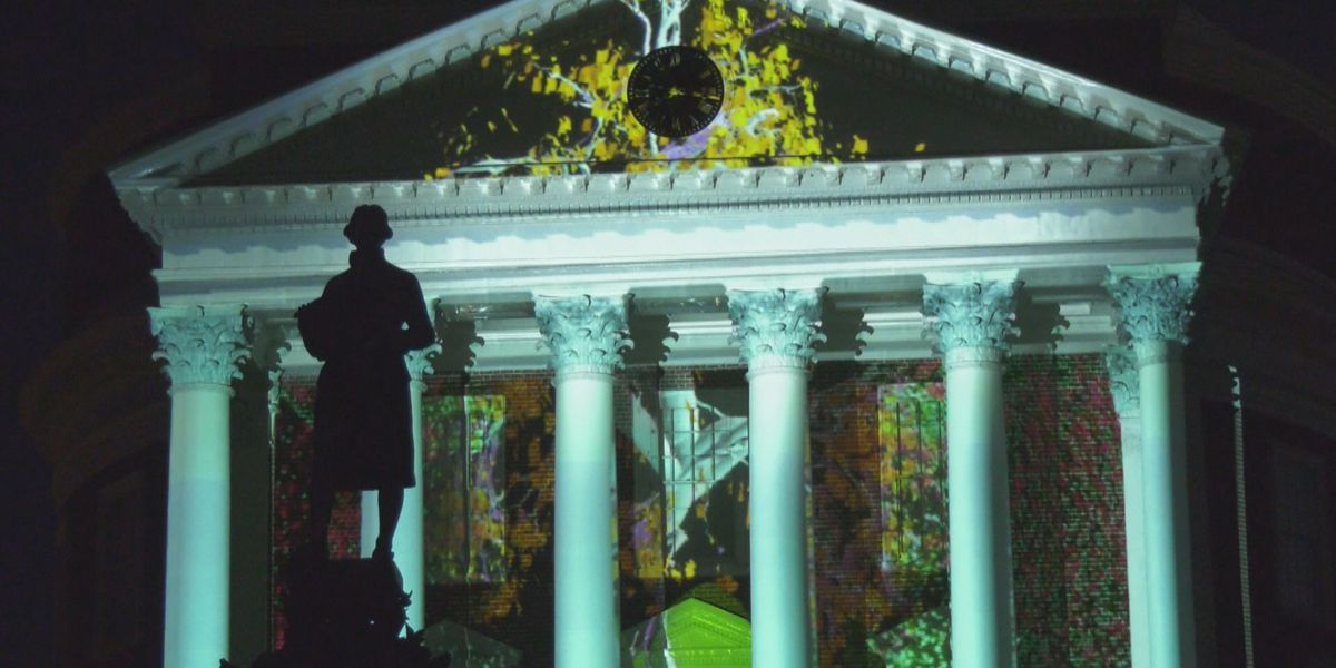 """University of Virginia's """"Brighter Together"""" light show continues at Rotunda"""