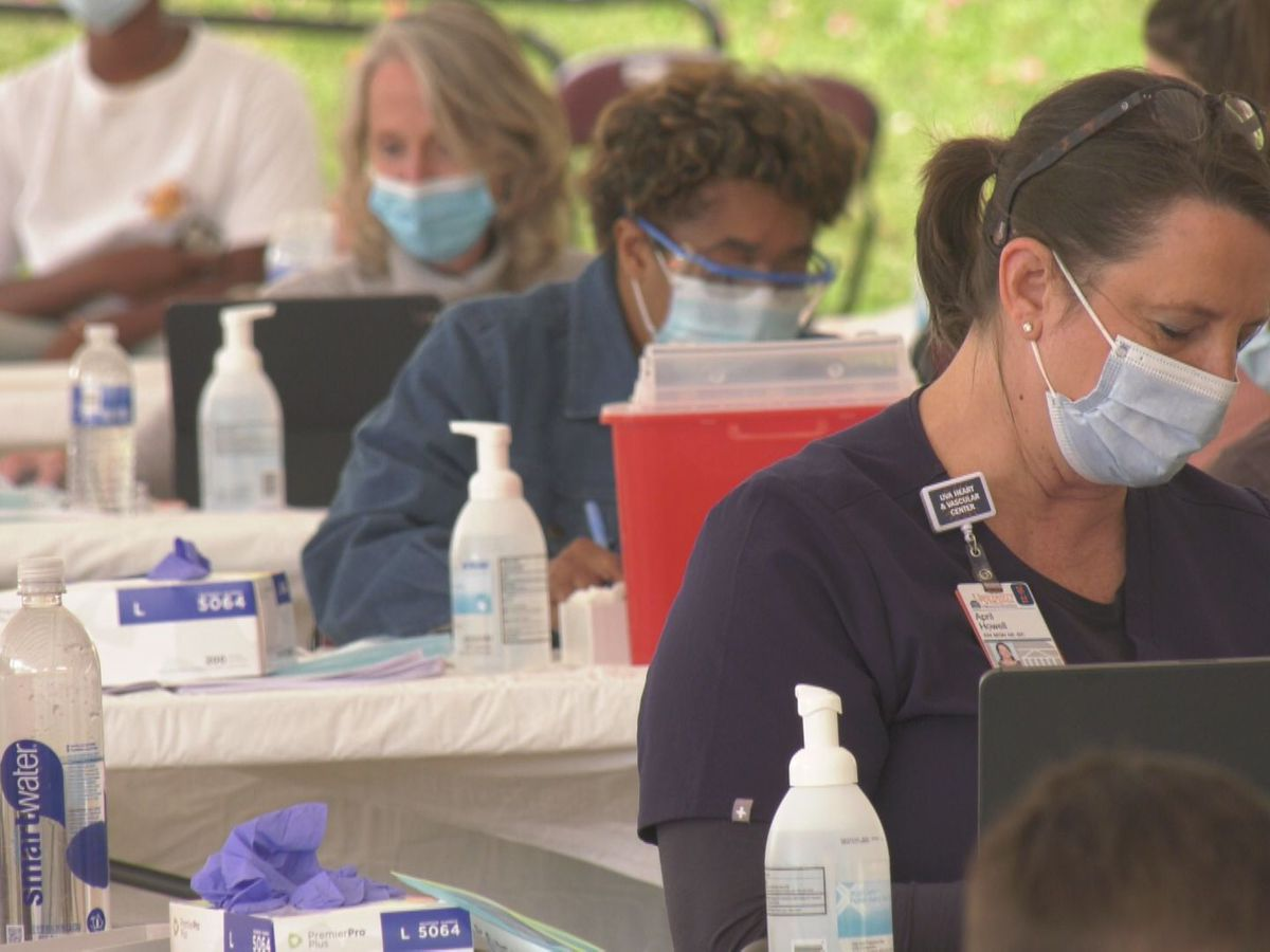 UVA Health brings vaccines to Charlottesville's Downtown Mall for the first of several Friday pop-up clinics
