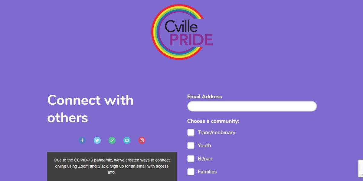 C'ville Pride offering grants through COVID-19 emergency fund for LGBTQ+ community