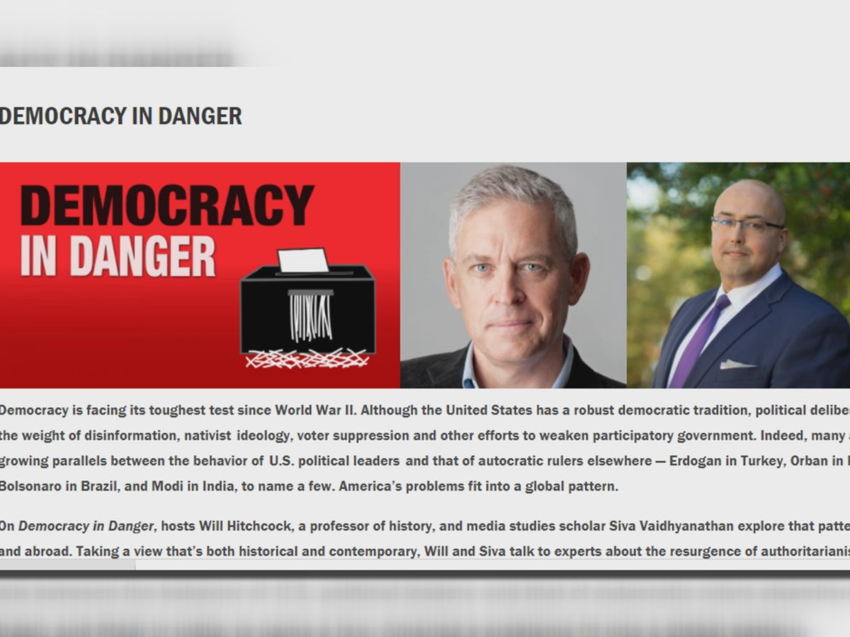 'Democracy in Danger' January-term course draws massive interest at UVA