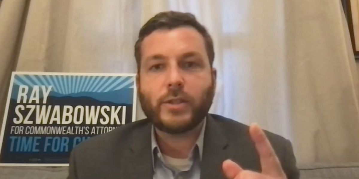 Ray Szwabowski, running for Charlottesville's top prosecutor job, outlines priorities on Facebook Live
