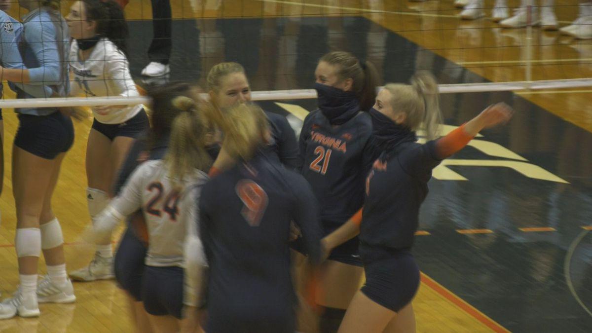 UVA volleyball beats The Citadel 3-0 in season opener at Mem Gym