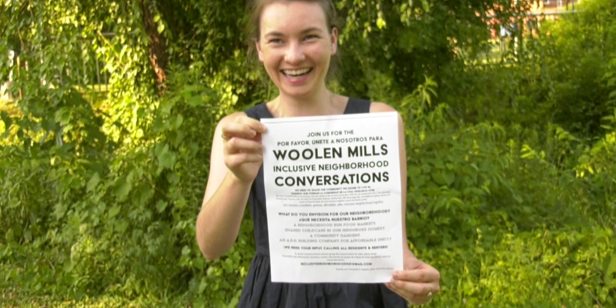 Woolen Mills resident starting community conversation with flyers