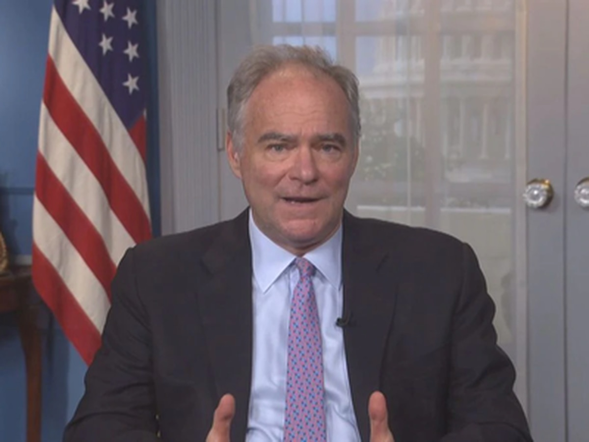 Senator Tim Kaine hopeful Democrats will flip the Senate