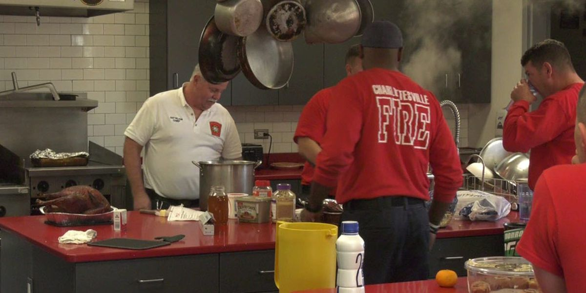 Charlottesville fire fighters celebrate Thanksgiving