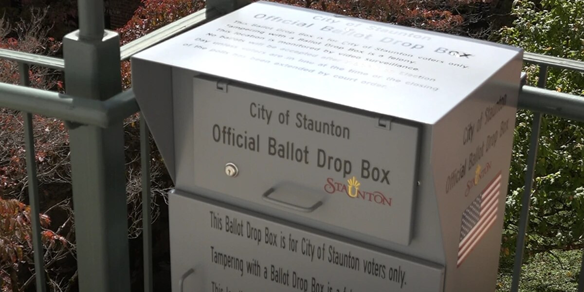 Ballot Boxes installed at Staunton City Hall