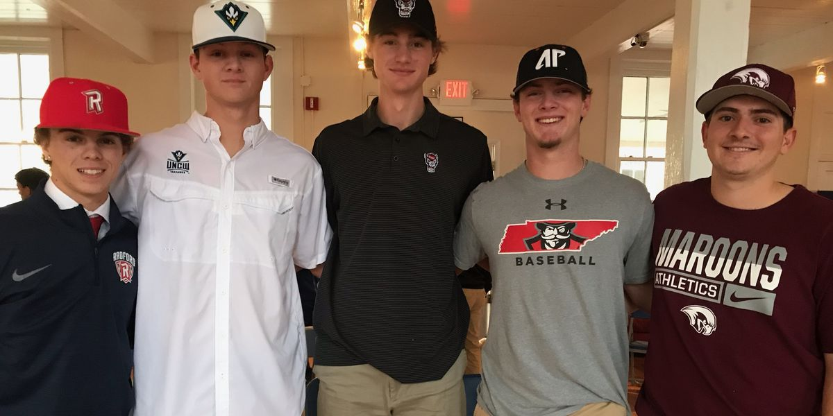 Five Miller School Baseball Players Sign National Letters of Intent