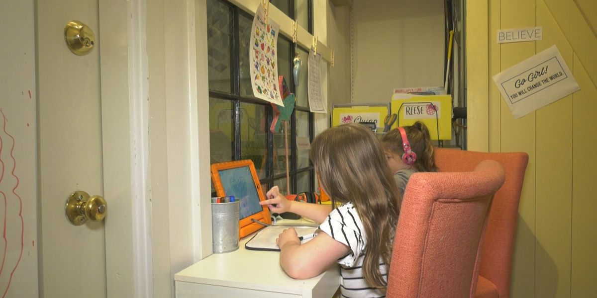 Charlottesville employee surprises colleague's daughters with virtual school set-up in their office
