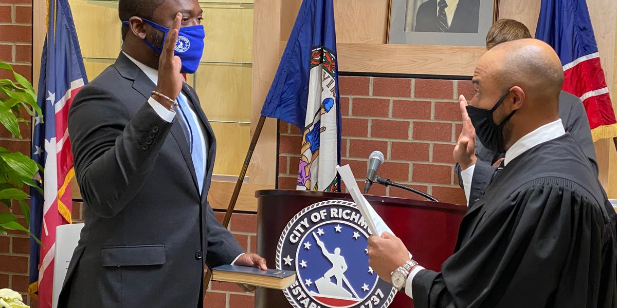 Mayor Stoney gets sworn in for second term as Richmond's mayor