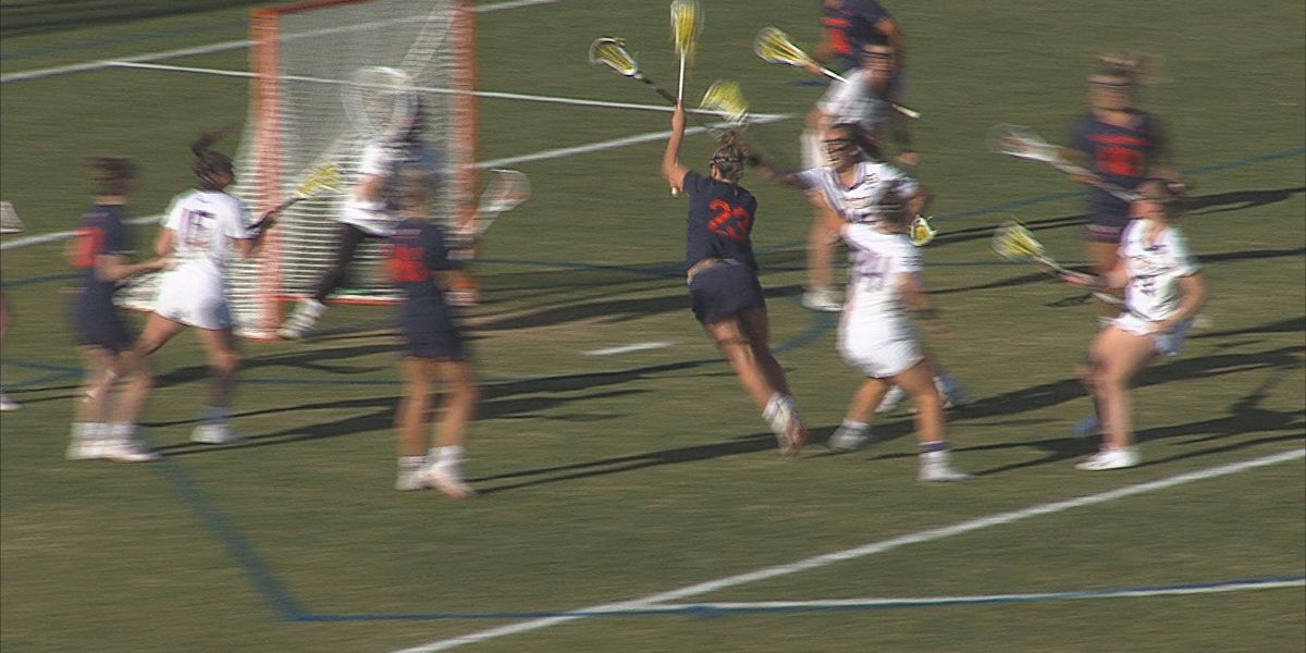 #8 UVA women's lax wins 15-12 at #22 JMU