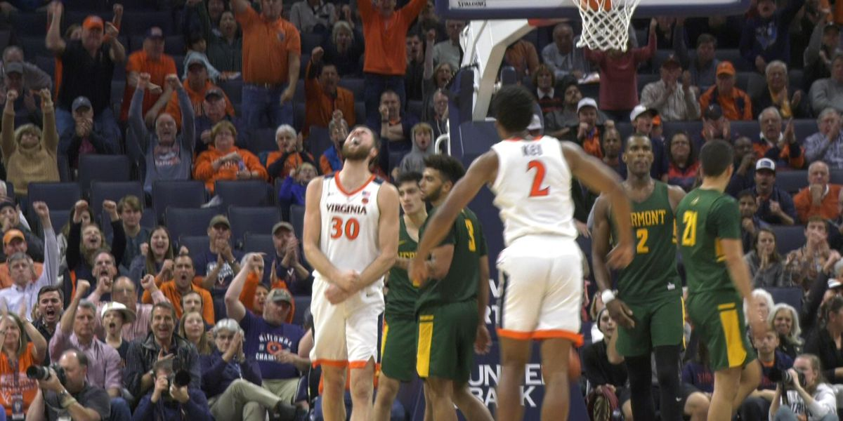 No. 7 Virginia Outlasts Vermont 61-55