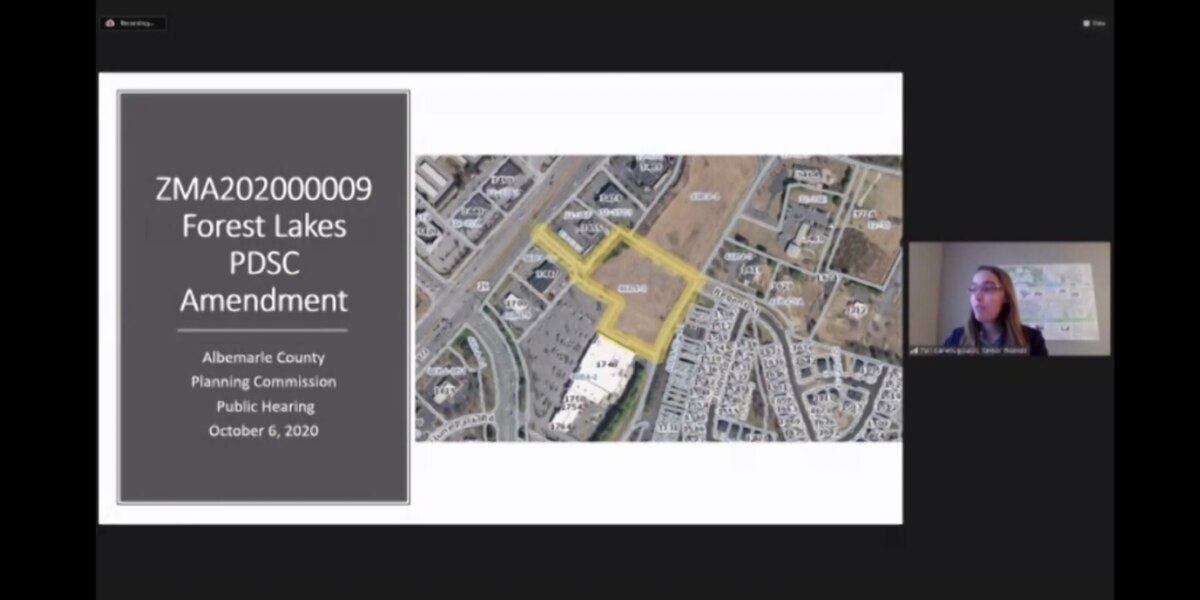 Albemarle Planners approve rezoning for shopping center near Forest Lakes
