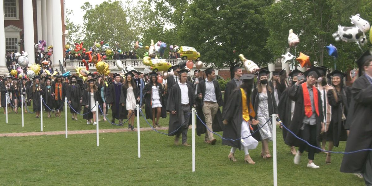 Class of 2020 returns to UVA for in-person graduation ceremony
