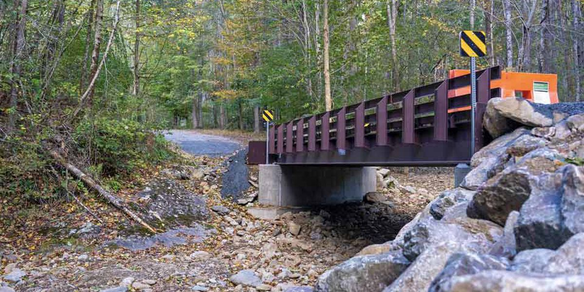 Ribbon cutting celebrates new bridge, improve fish passage at Whiteoak Canyon Trail