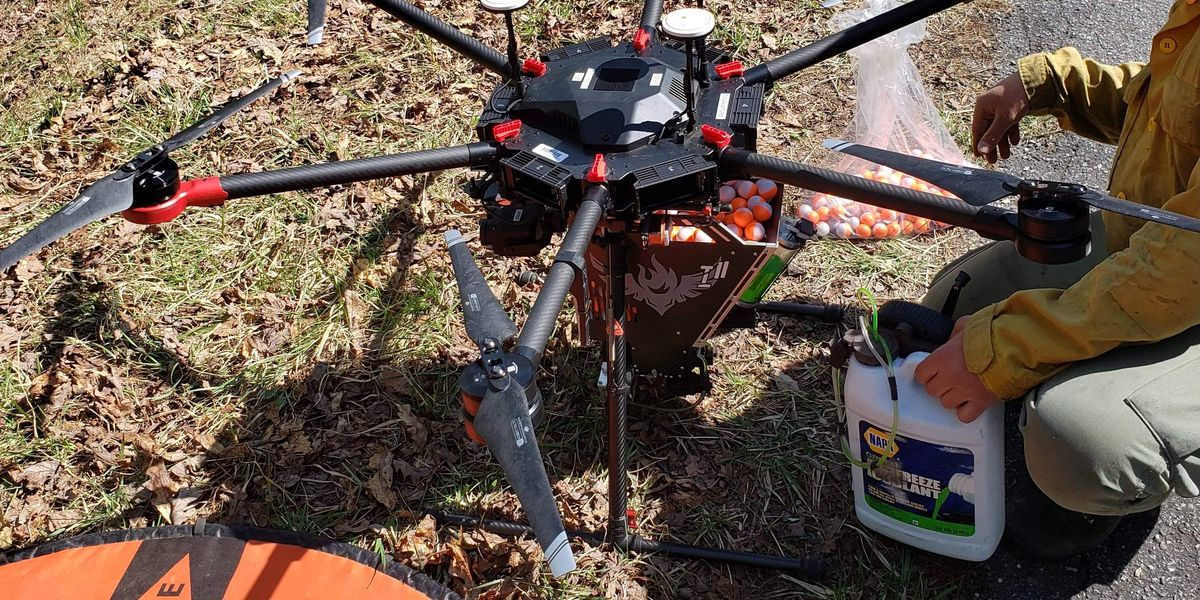 """Drones with """"dragon eggs"""" used to start prescribed burns"""