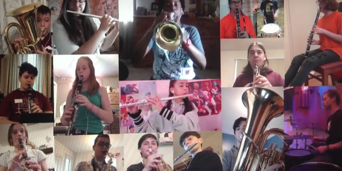 Shelburne Middle School Band students release special performance of 'Don't Worry, Be Happy' online
