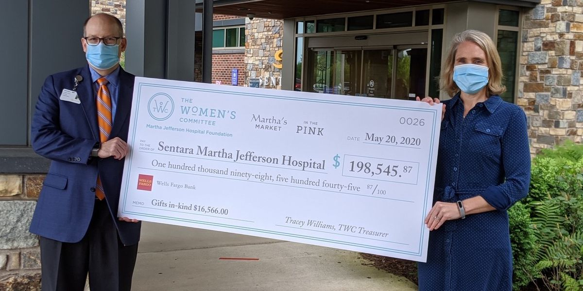 Sentara Martha Jefferson Hospital receives nearly $200K donation to support patient care