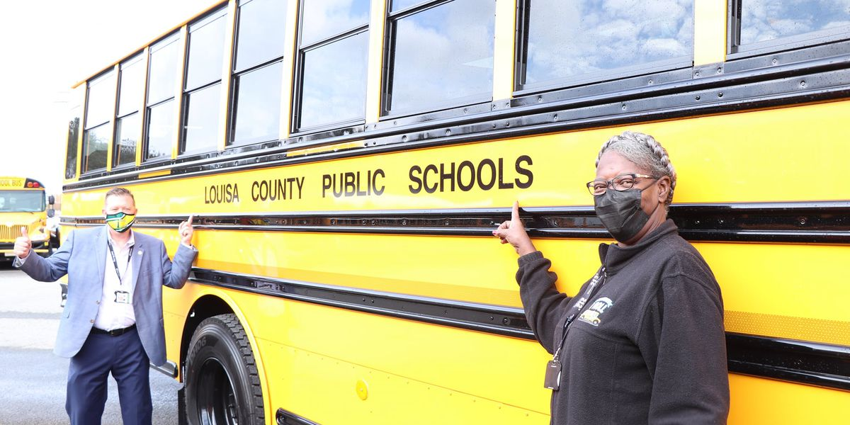 Louisa County Schools gets 2 electric buses