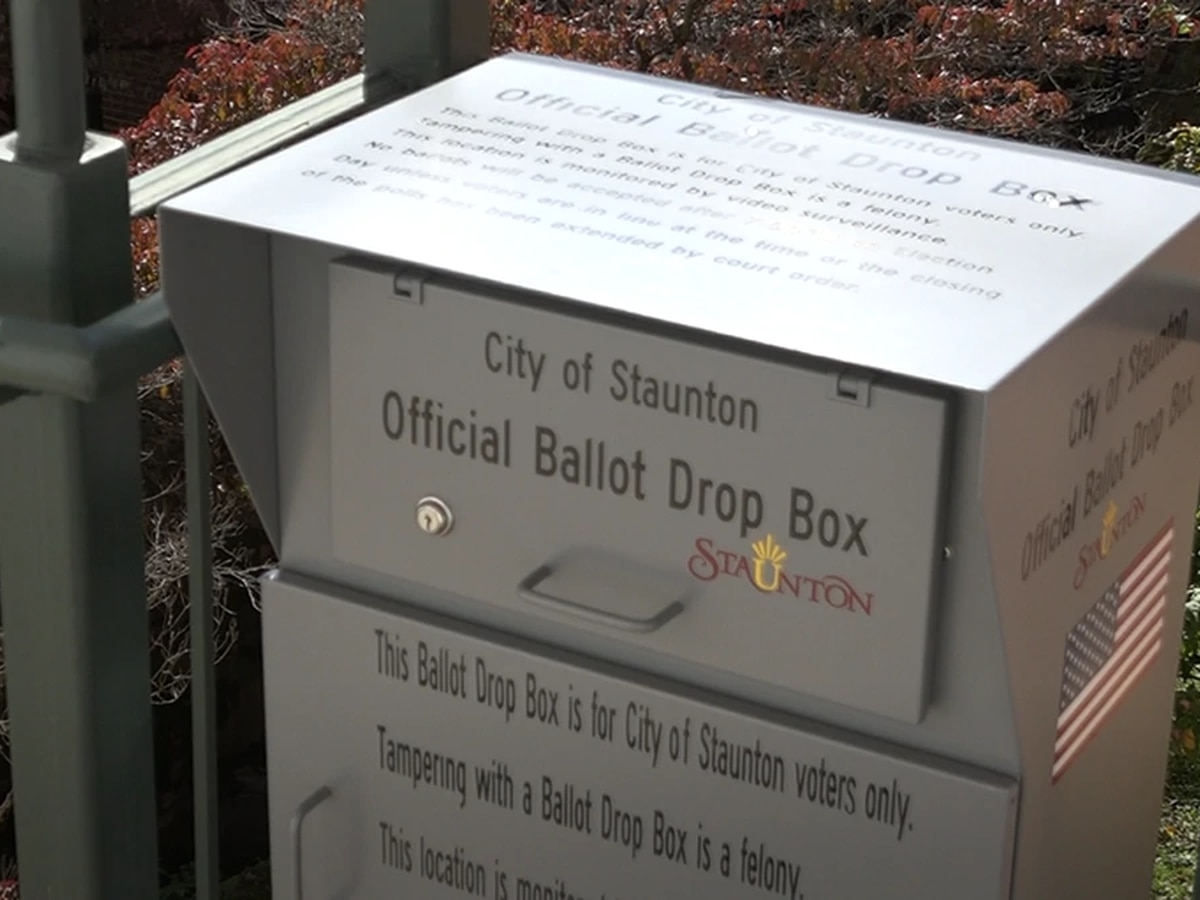 Ballot Boxes installed at Staunton City Hall
