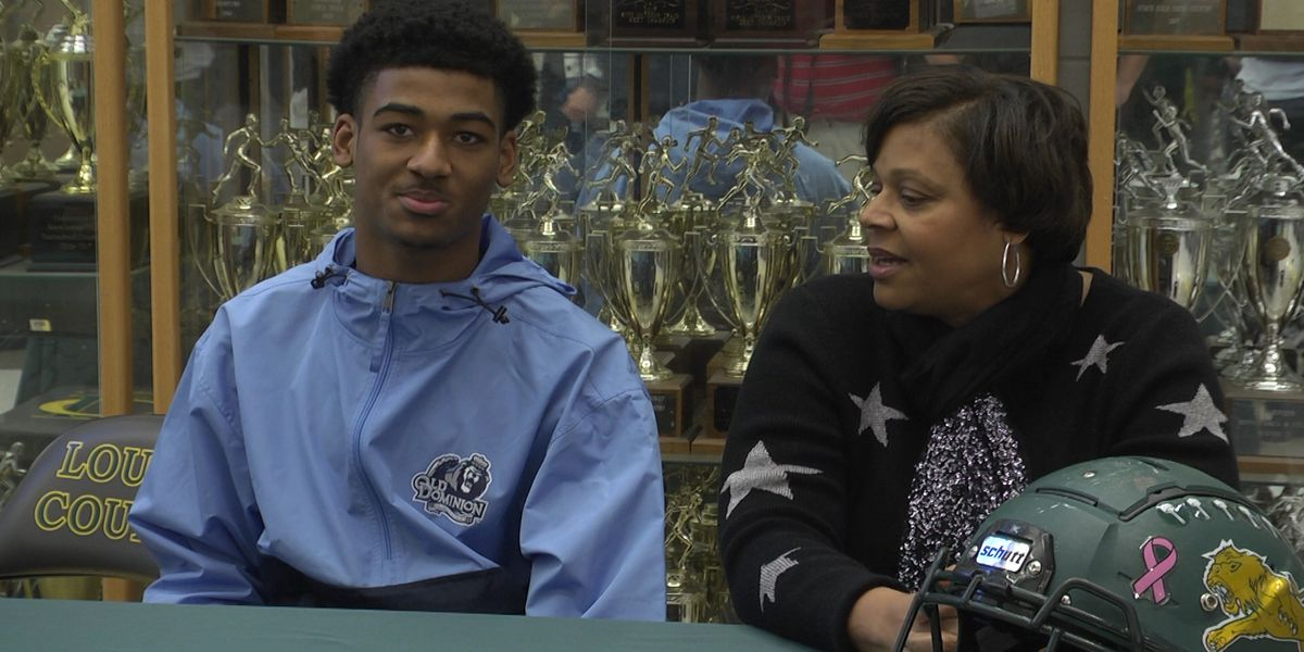 Louisa's Noah Robinson signs with Old Dominion football