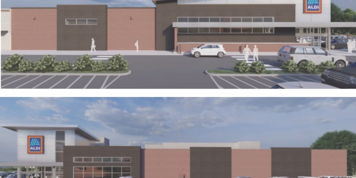 Aldi submits its preliminary review to the Albemarle Architectural Review Board