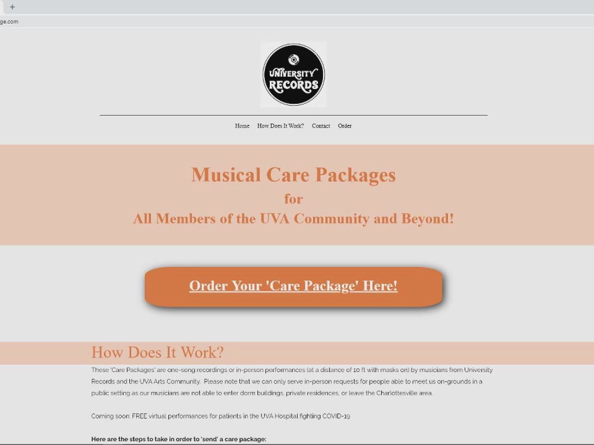 UVA creates music care package program