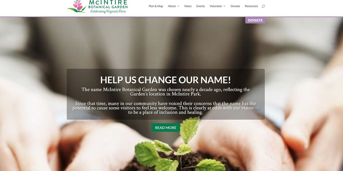 McIntire Botanical Garden seeking suggestions for new name