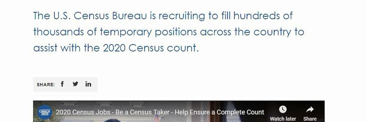 U.S. Census Bureau raising pay in Charlottesville and Albemarle County to find Census workers