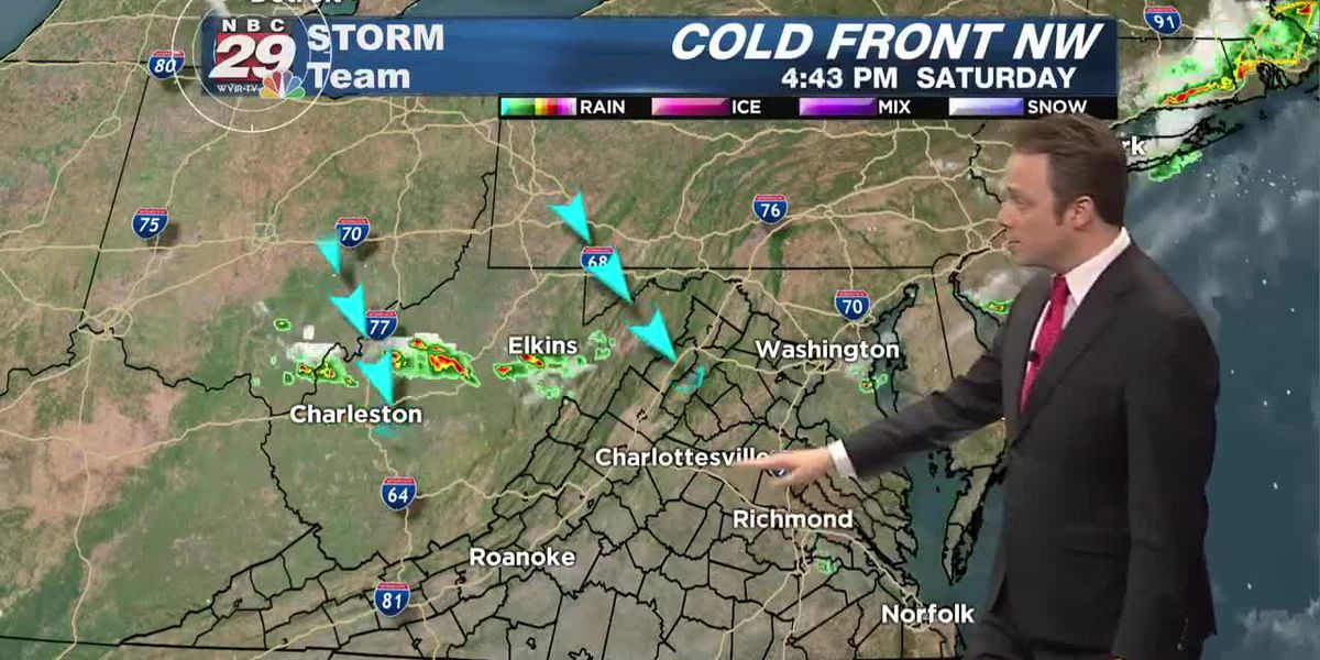Cold Front Shifts South