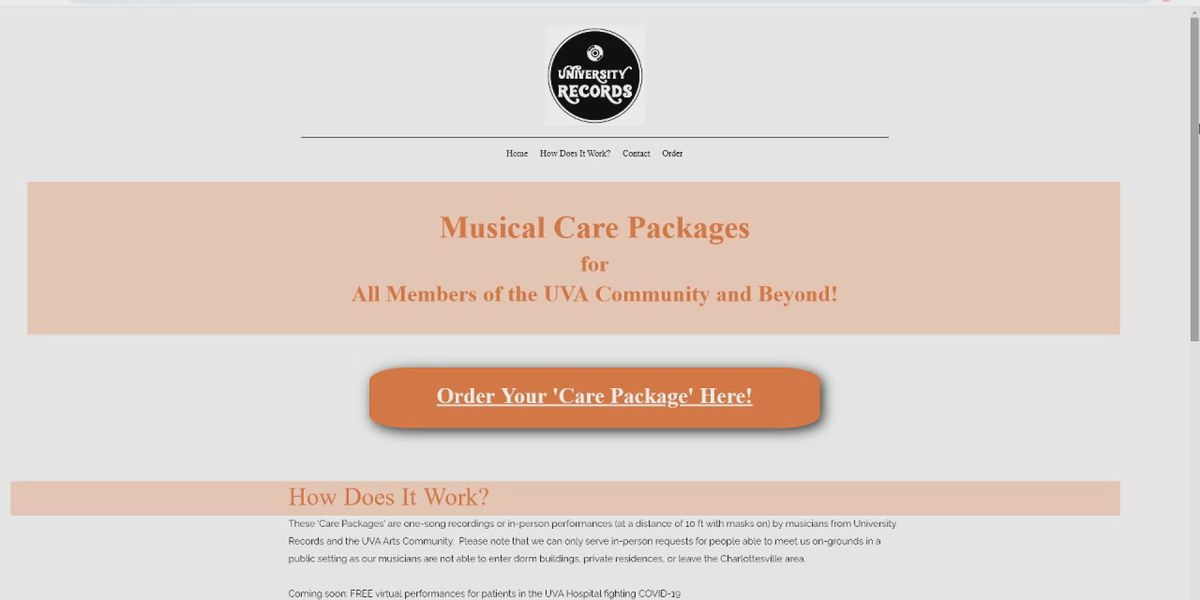 UVA creates music care package program