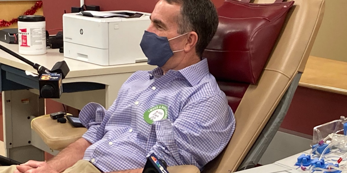 Gov. Northam donates blood plasma as VA Red Cross reports greater need than ever before