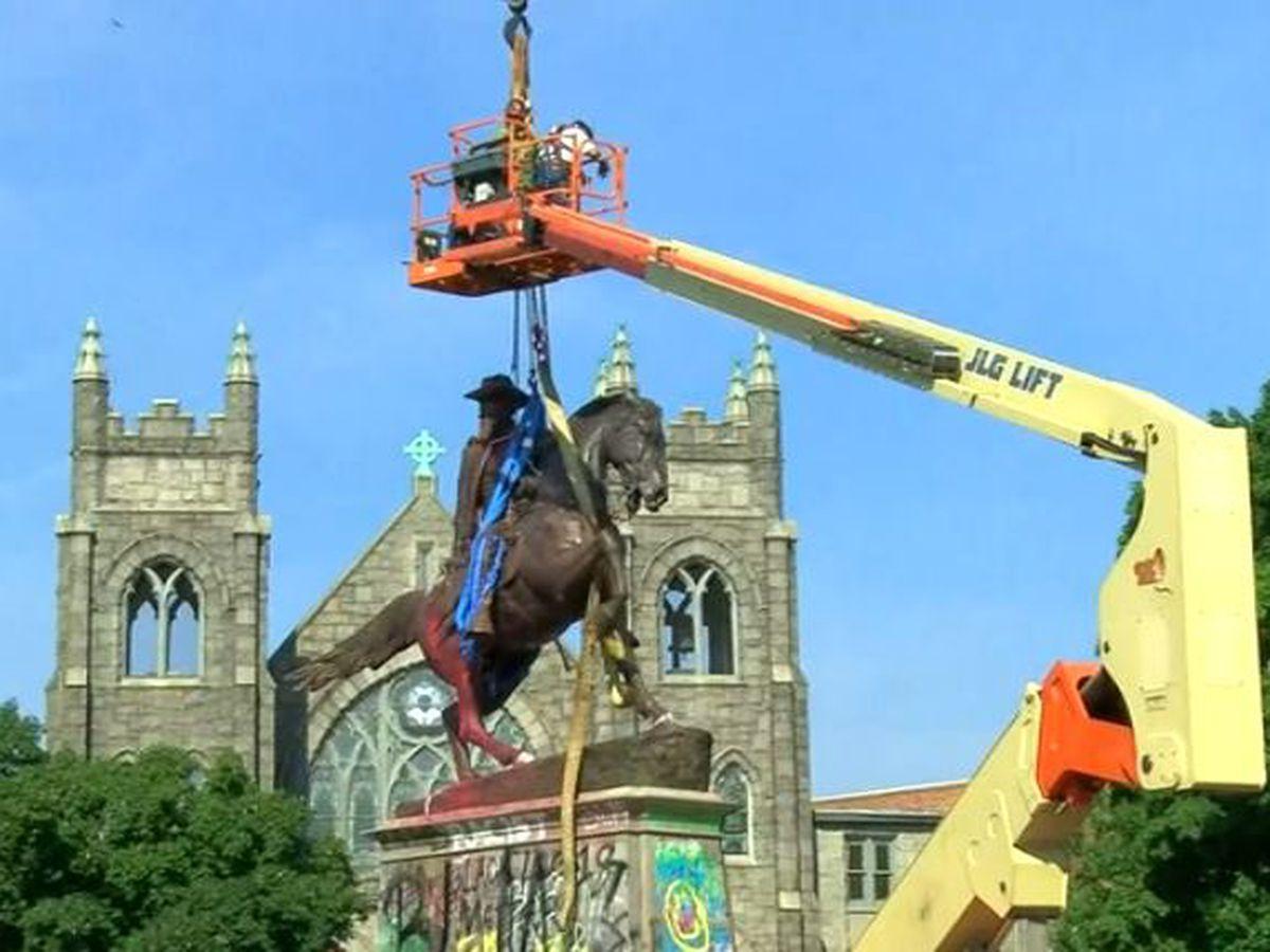 LIVE: Crews removing statue of Confederate Gen. J.E.B. Stuart in Richmond