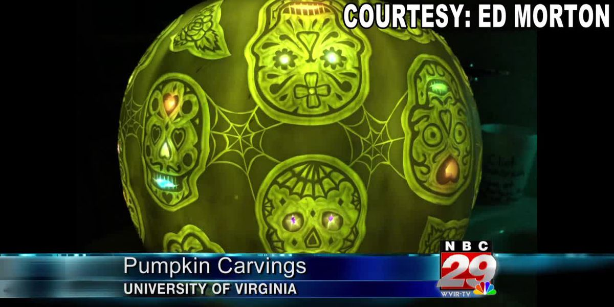 Veteran pumpkin carver brings Halloween spirit to UVA's Special Collection Library