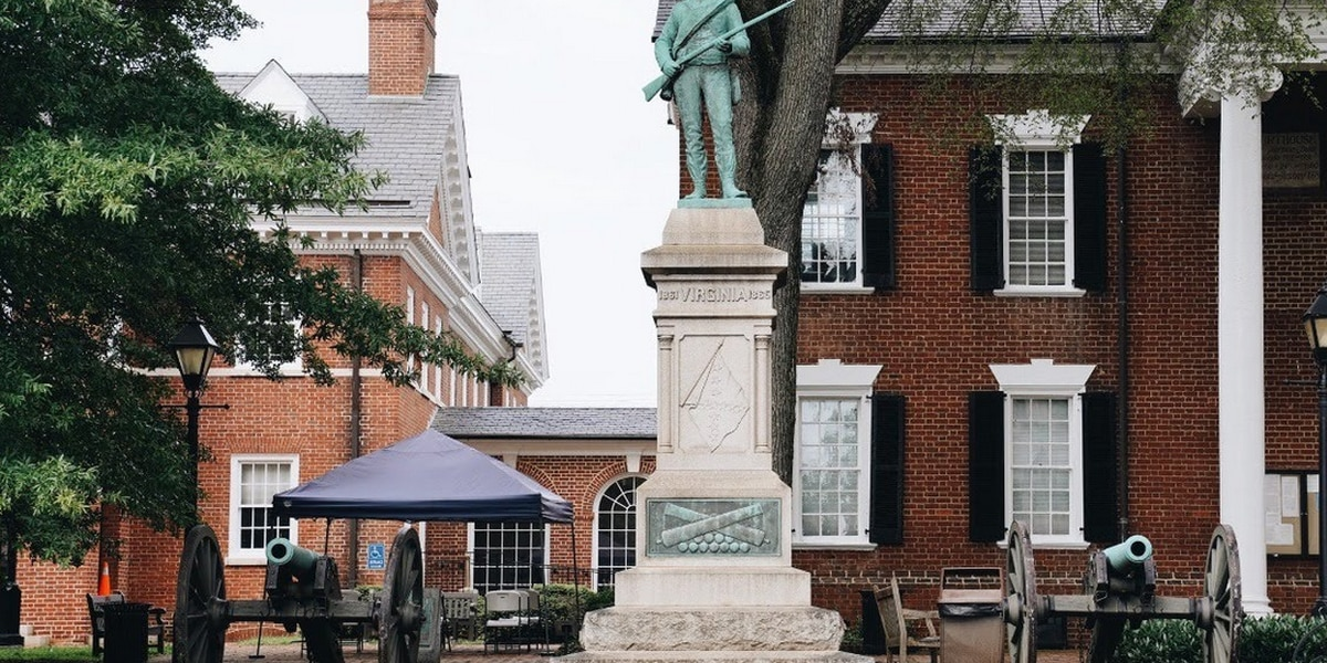 """""""At Ready"""" Statue in Albemarle County comes down"""