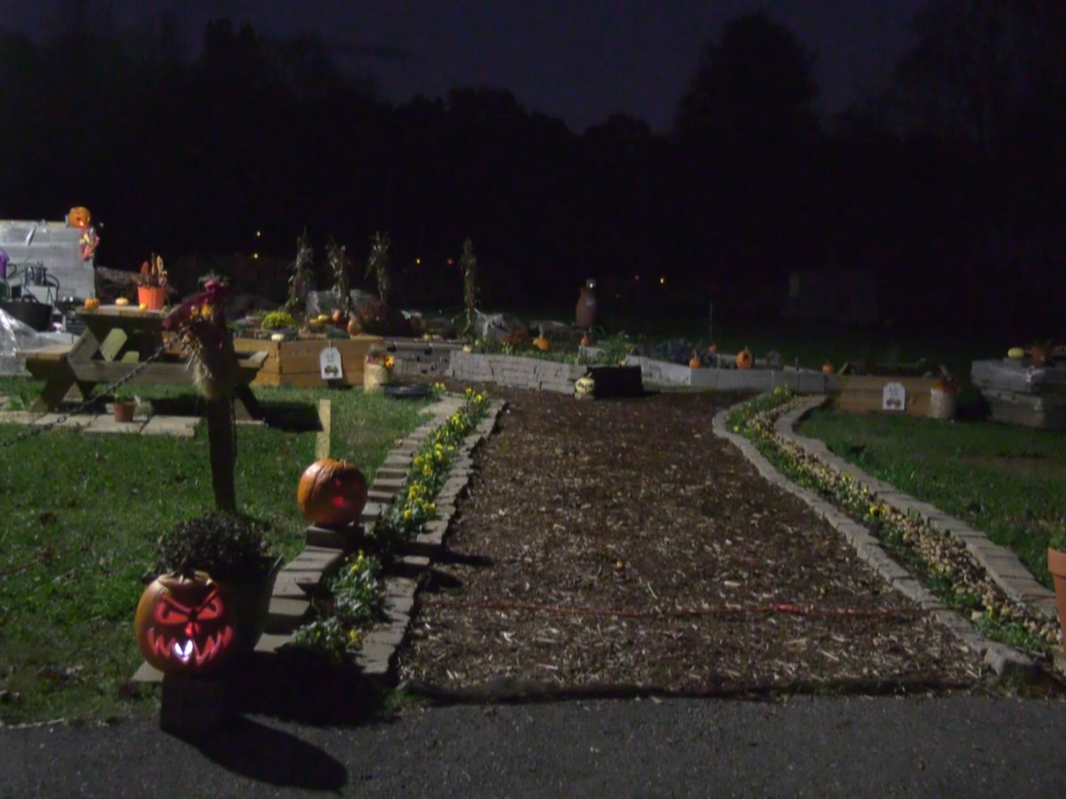 Yancey Community Center hosts drive thru pumpkin glow in the dark display