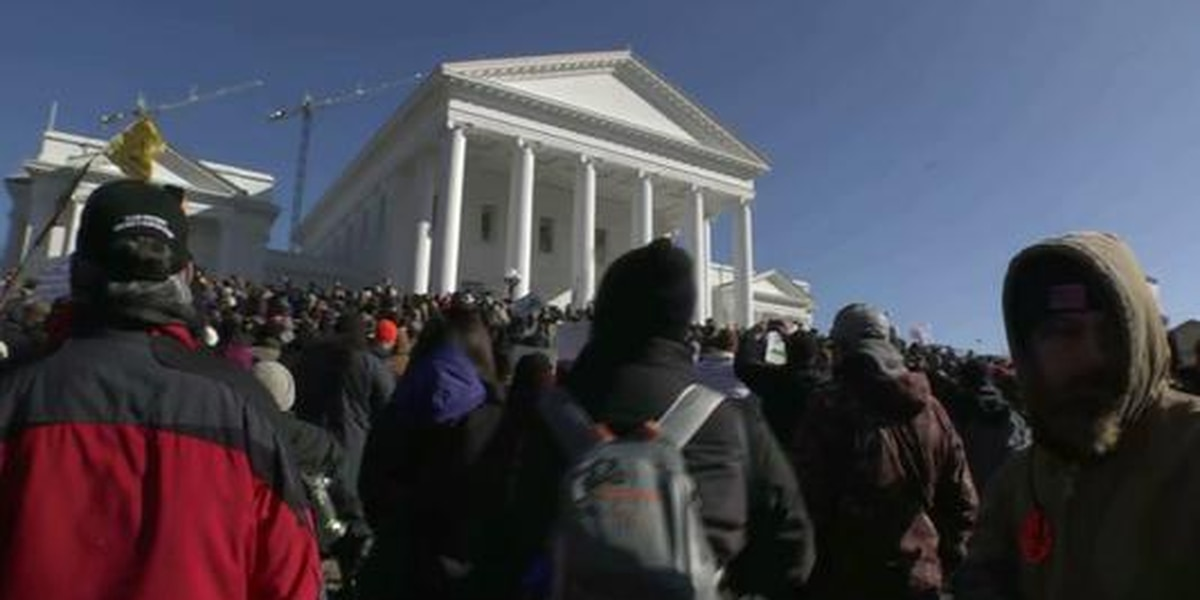 Thousands rally in Richmond over gun rights