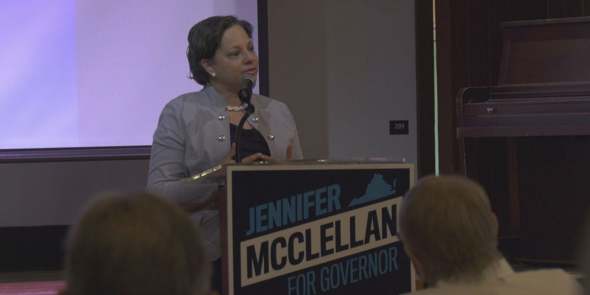 Gubernatorial candidate McClellan visits Charlottesville on eve of Democratic primary